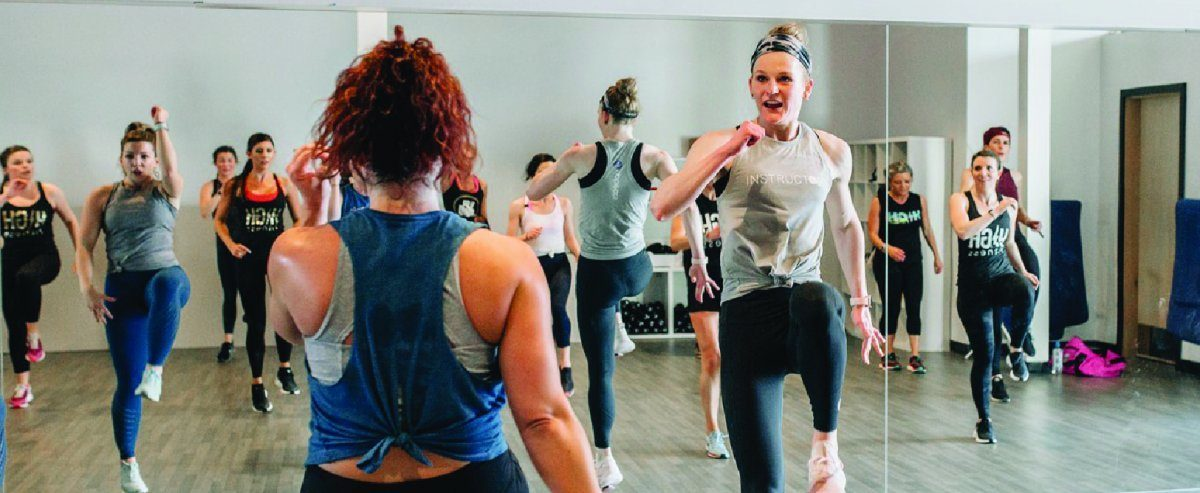 Plan on moving the coffee table to enjoy dance-inspired classes from Upbeats Fitness.