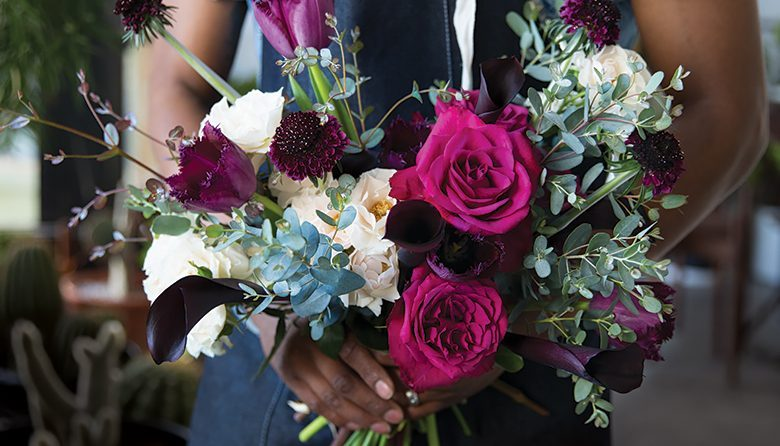 Bouquet of flowers from Capitol Hill's Glasswing Greenhouse