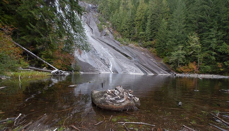 Otter Falls in the Central Cascades off I-90