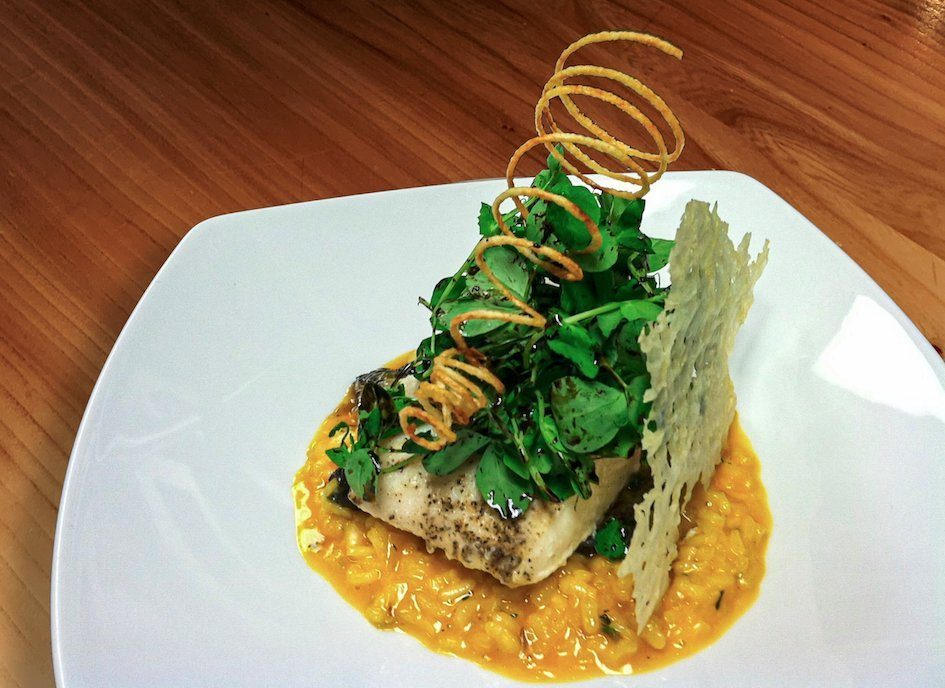 A Mouth-Watering Halibut and Risotto from the Woodmark