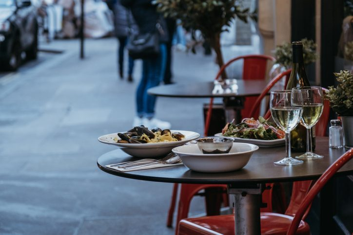 Where to eat when staying warm and dry is a priority