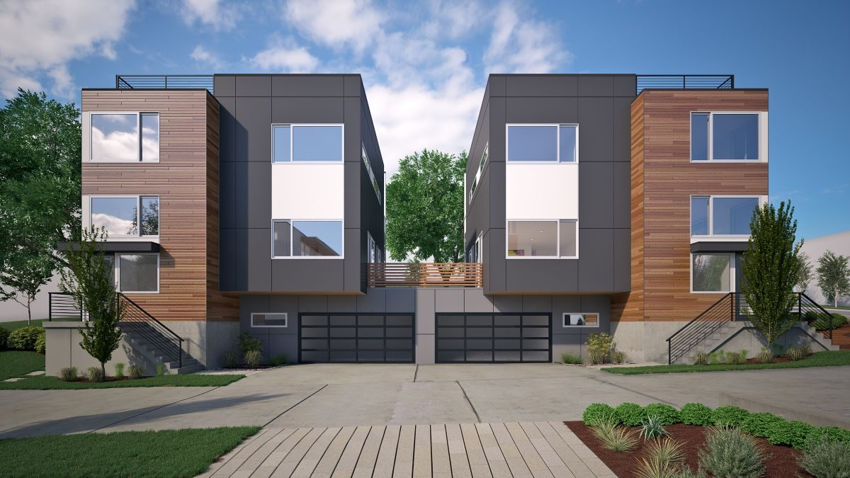five new modern homes built in kirkland's houghton neighborhood