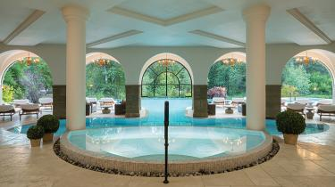 The pools at the Posthotel & Spa in Leavenworth, Washington are the heart of the hotel's wellness area