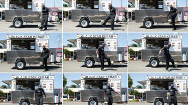 A longtime presence in the Seattle soccer scene, Priestwick Sackeyfio launched his food truck in 2015