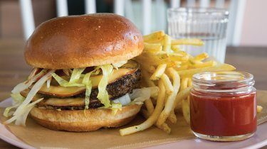 Big Mac cheeseburger at Queen Anne's Eden Hill Provisions