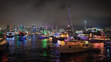 Seattle Christmas Ship Festival during the holiday season