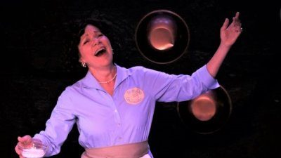 Anne Allgood as Julia Child in 'Bon Appétit: The Julia Child Show' at The Rendezvous
