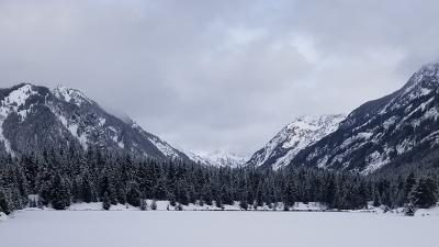 Views from the Gold Creek Snowshoe Trail in Washington state