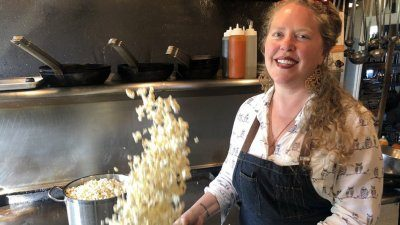 Heather Earnhardt's isolation comfort food? Popcorn.